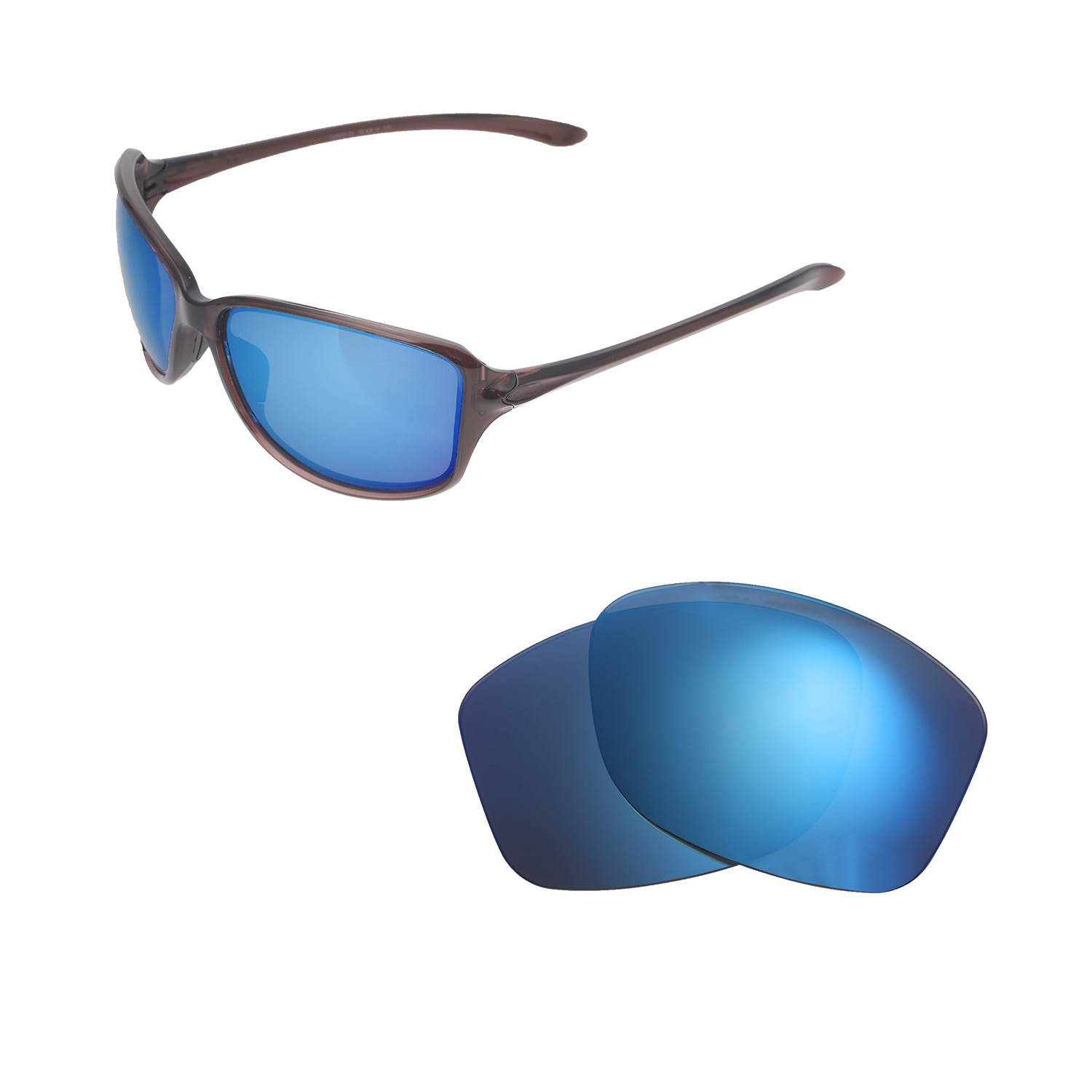 2734067a62 Details about New Walleva Ice Blue Polarized Replacement Lenses For Oakley  Cohort Sunglasses
