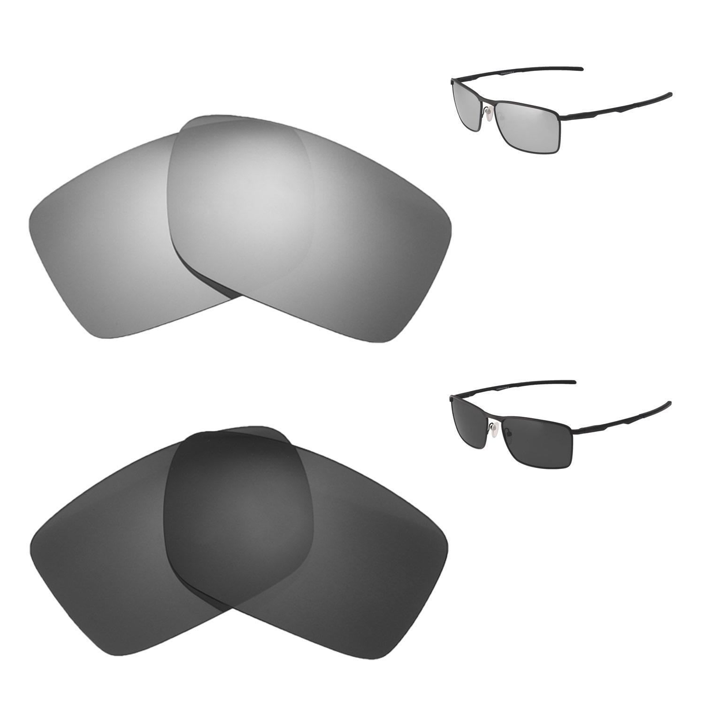 287c2316c1 Details about Walleva Titanium + Black Polarized Replacement Lenses For  Oakley Conductor 6