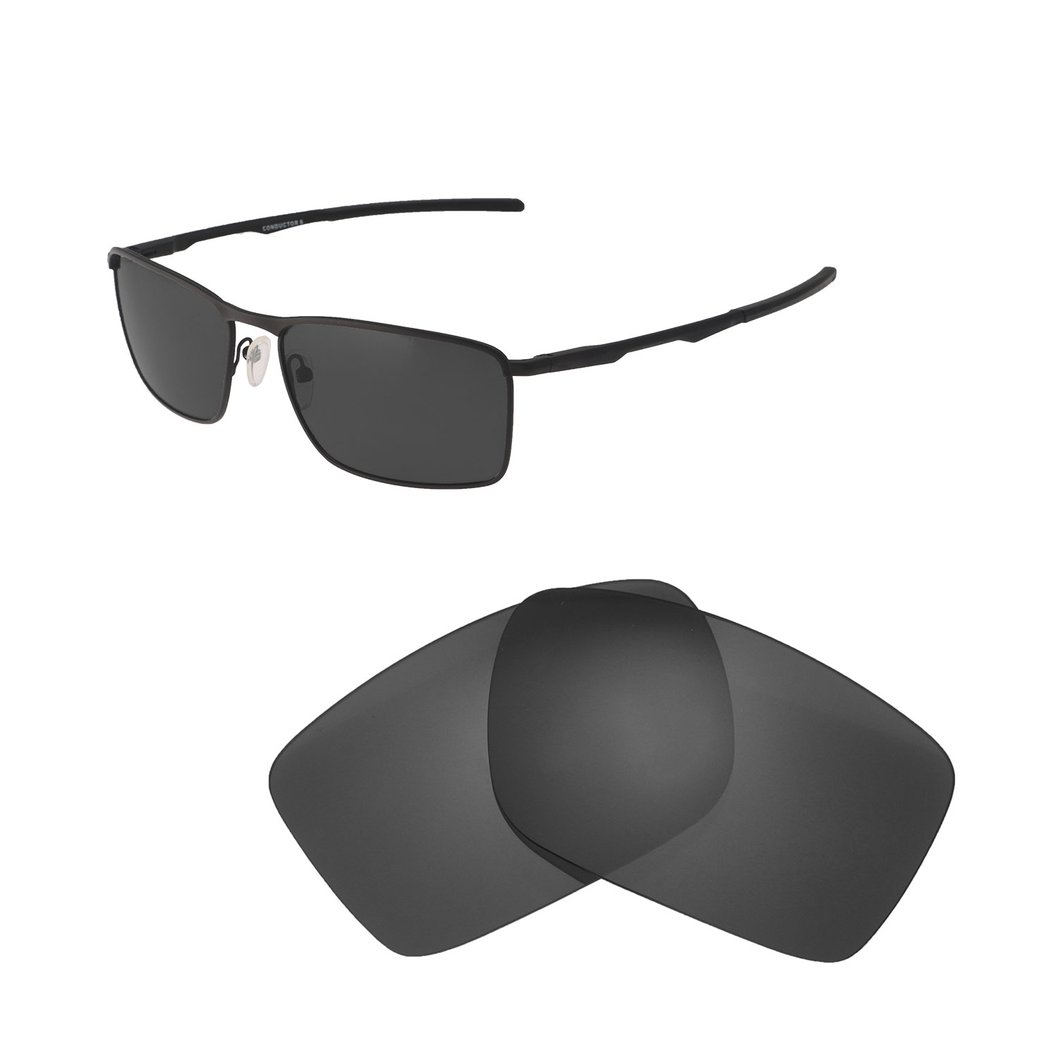 ede0cbd48c Dettagli su New Walleva Black Polarized Replacement Lenses For Oakley  Conductor 6 Sunglasses