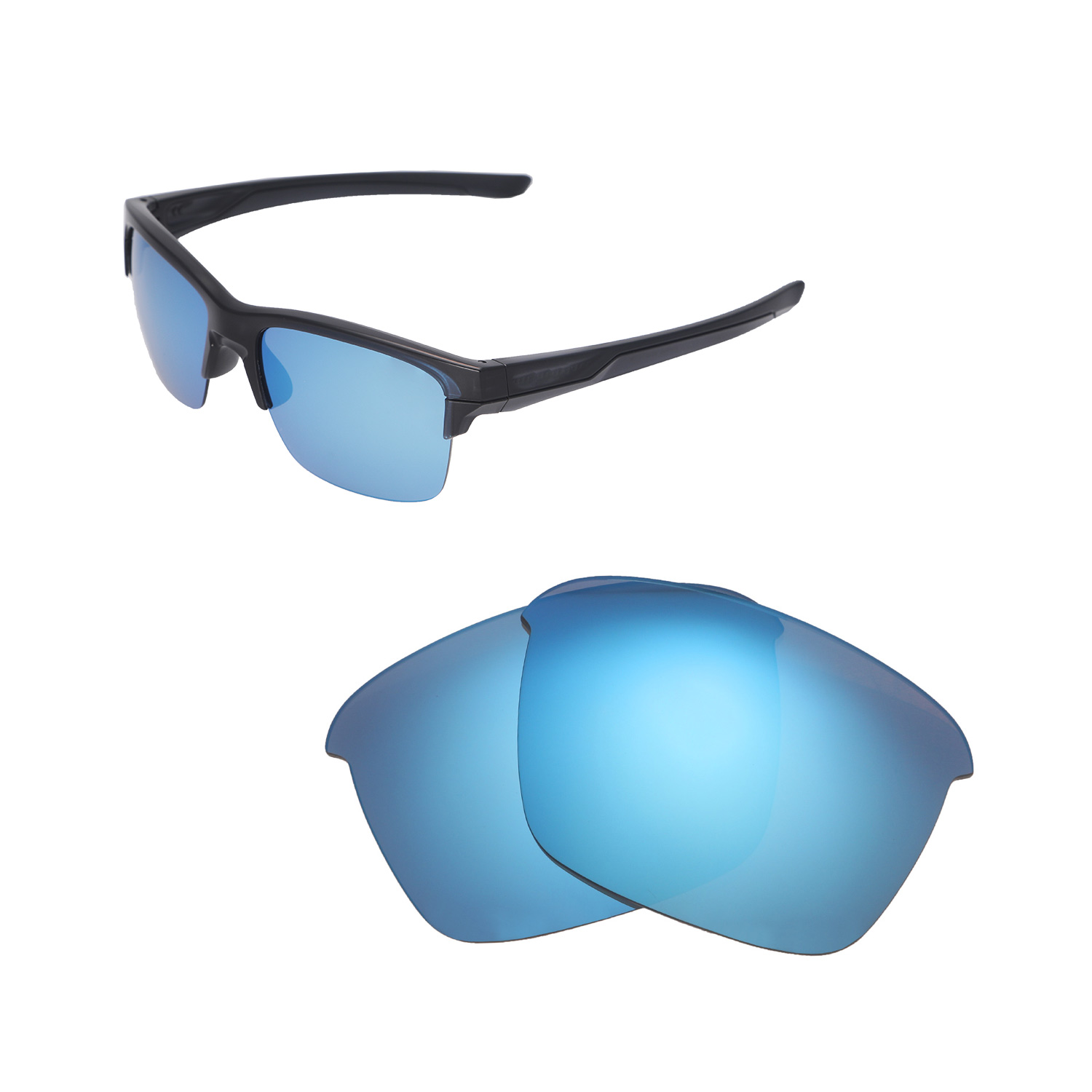 d9c3adb1f2 Details about New Walleva Ice Blue Polarized Replacement Lenses For Oakley  Thinlink Sunglasses
