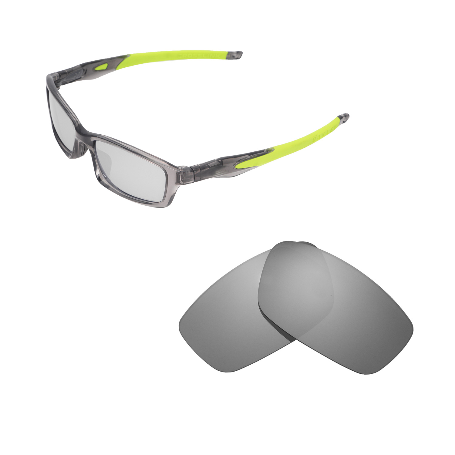 00db029f6c Details about New Walleva Titanium Polarized Lenses For Oakley Crosslink 53  (OX8027 Series)