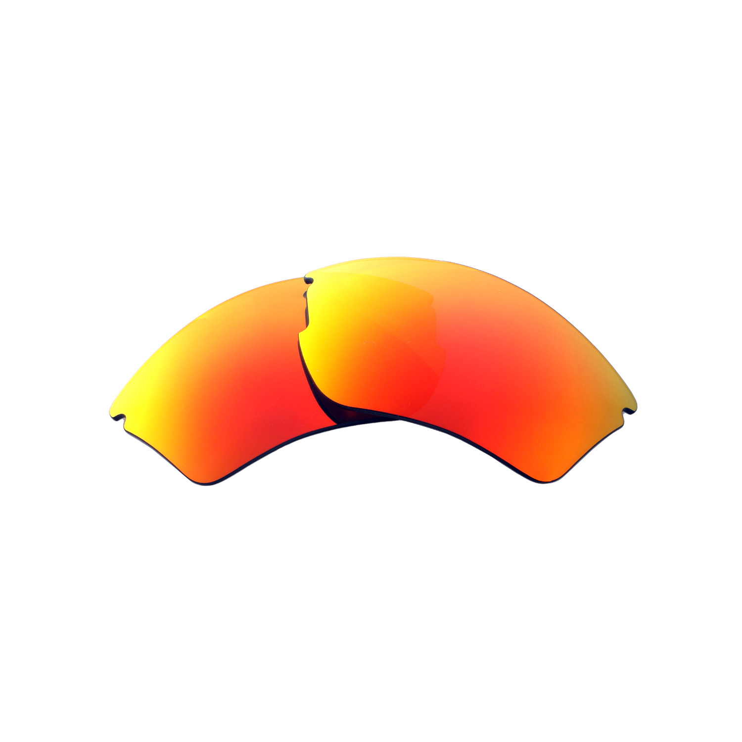 Walleva Fire Red Ice Blue Polarized Lenses For Smith Optics Approach Max