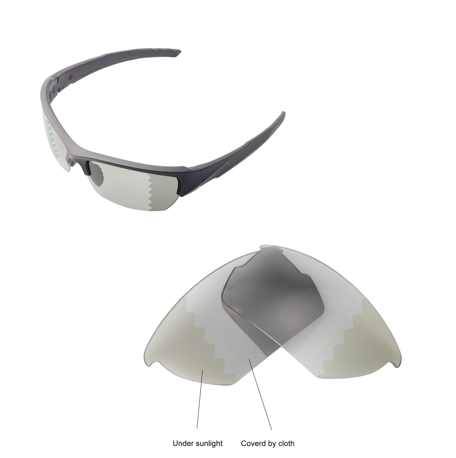 cf34054b6f Walleva Polarized Transition Lenses for Oakley Drop In x1  Walleva  Microfiber Lens Cleaning Cloth x1. main image