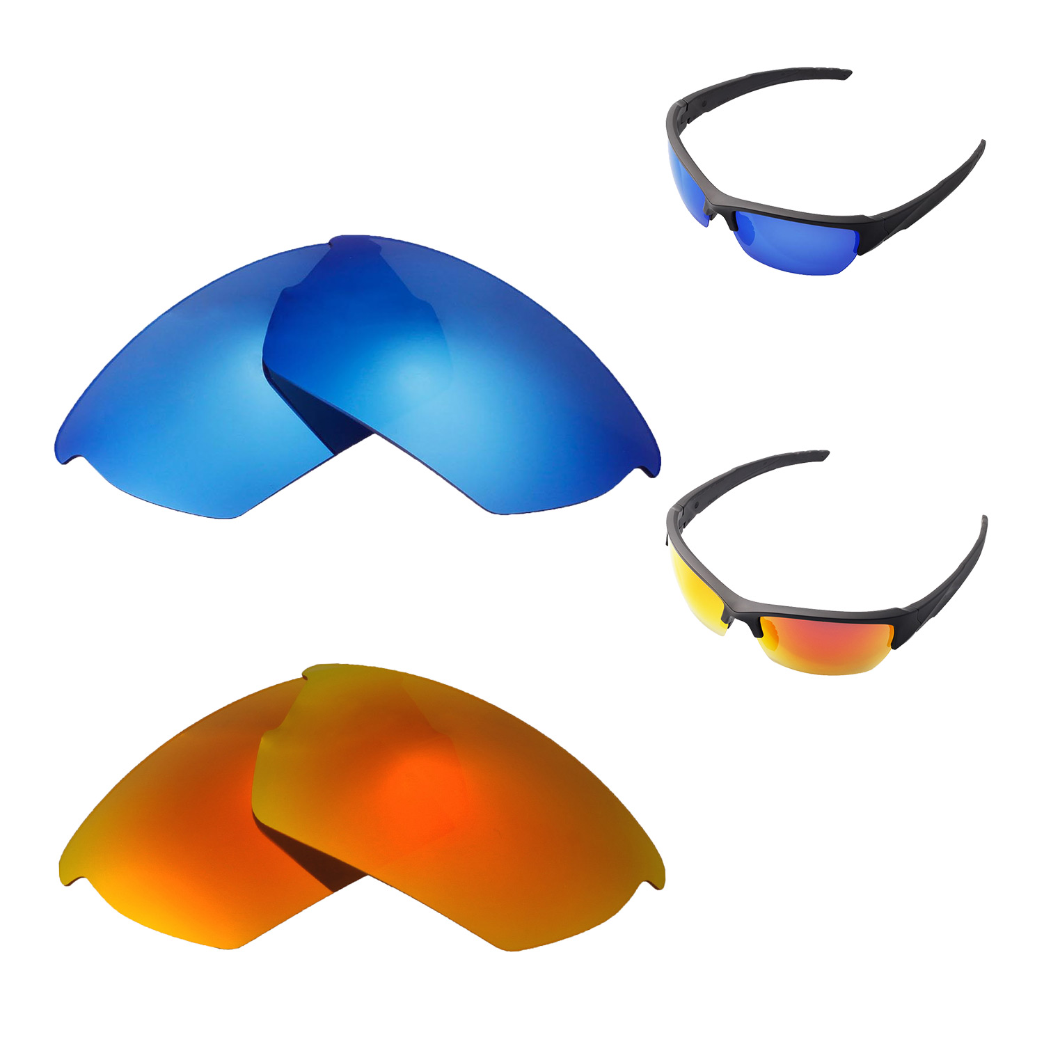 d85a52c66e ... Walleva Polarized Ice Blue Lenses for Wiley X Valor x1  Walleva  Microfiber Lens Cleaning Cloth x2. main image