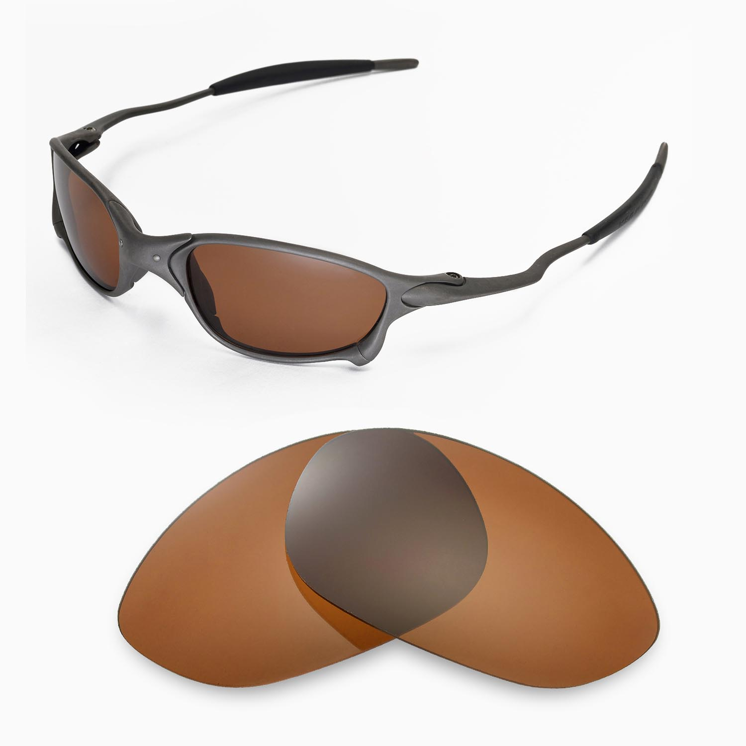 8a2cb9ca45 Details about New Walleva Brown Polarized Replacement Lenses For Oakley X  Metal XX Sunglasses