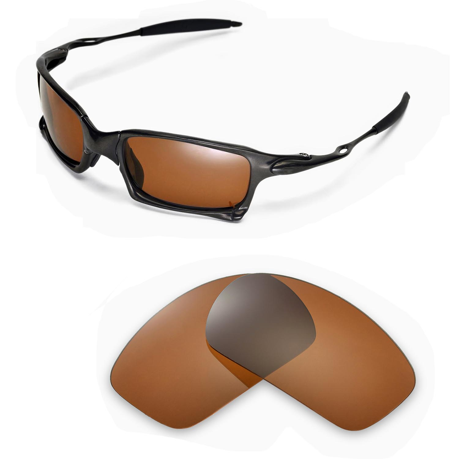 7d6b34f643b New Walleva Polarized Brown Replacement Lenses For Oakley X-Squared ...