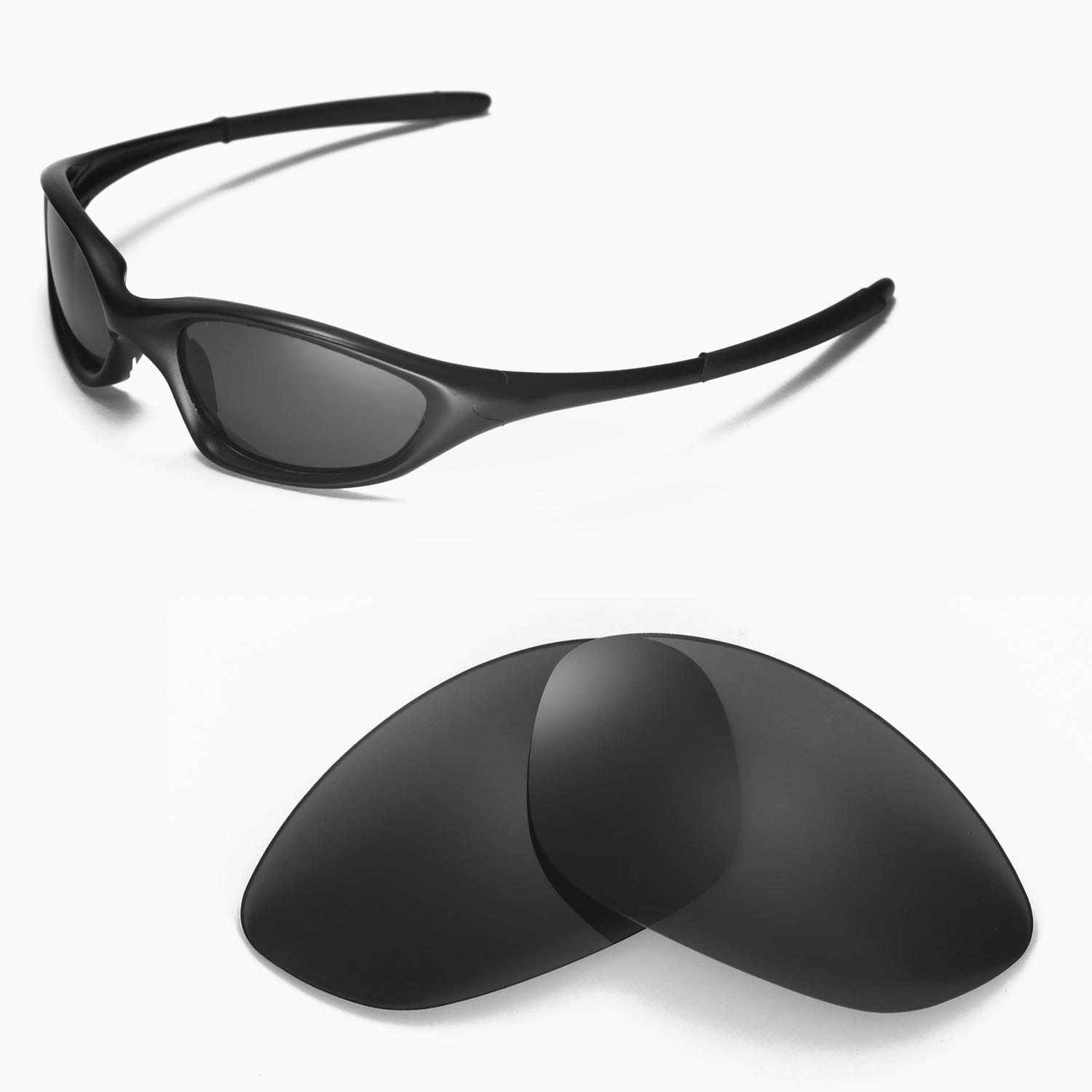 89bb87981e Details about New Walleva Polarized Black Replacement Lenses For Oakley  XX Old Twenty