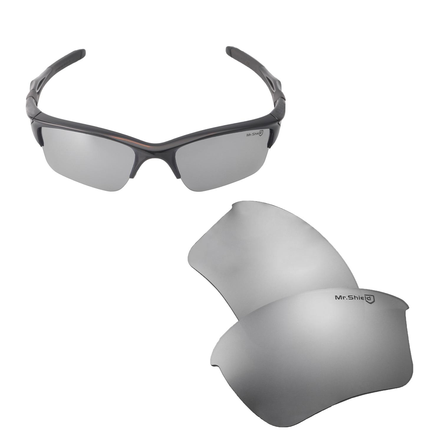 fdbd5bce5c8 Walleva Mr. Shield Polarized Titanium Lenses for Oakley Half Jacket 2.0 XL  x1  Walleva Microfiber Lens Cleaning Liquid x1. main image