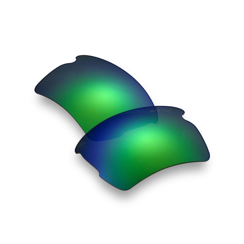 09bd8a6edb1 Walleva Mr. Shield Polarized Emerald Lenses for Oakley Flak 2.0 XL x1   Walleva Microfiber Lens Cleaning Liquid x1