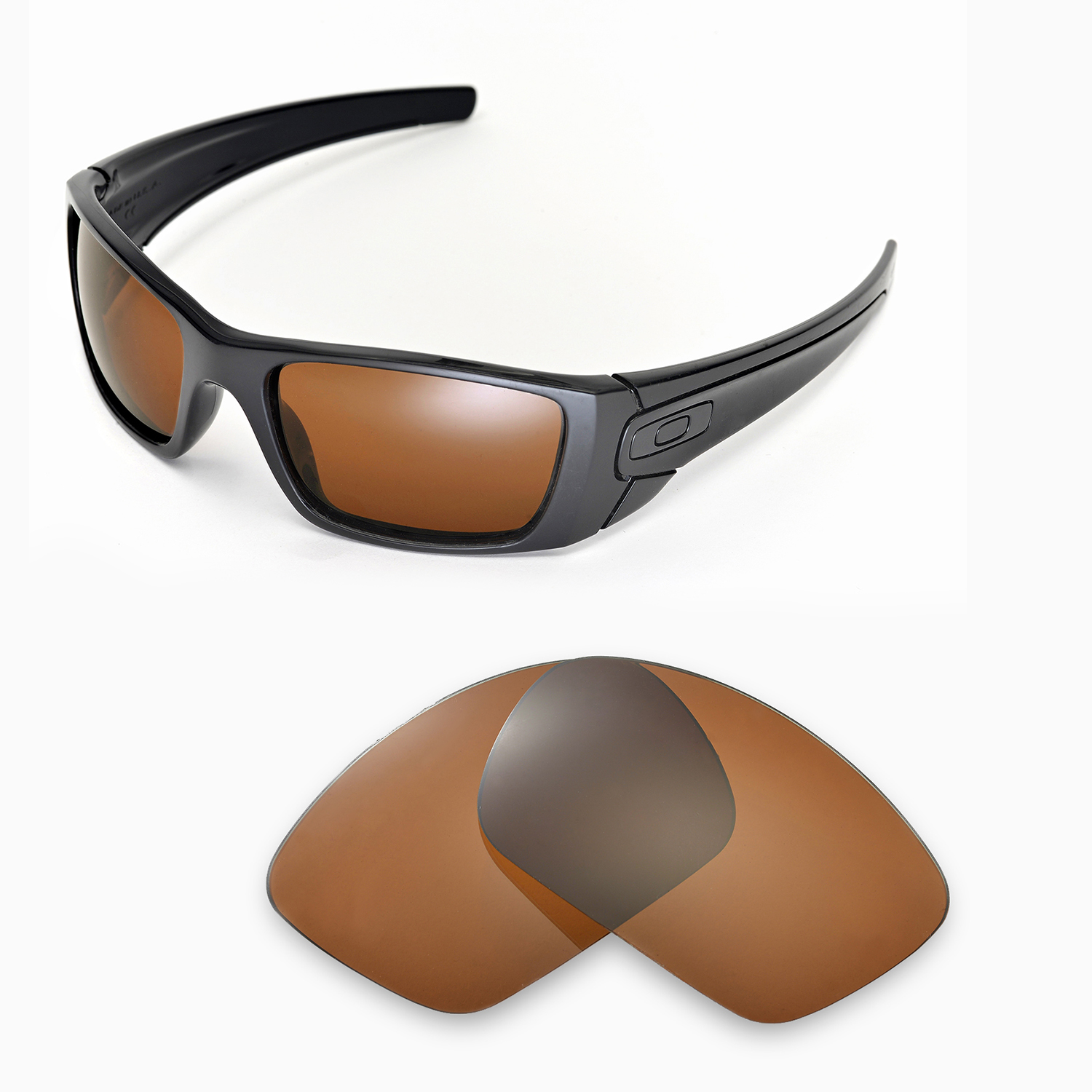 6f687e1ad1 Walleva Polarized Brown Lenses for Oakley Fuel Cell x1  Walleva Microfiber  Lens Cleaning Cloth x1. main image