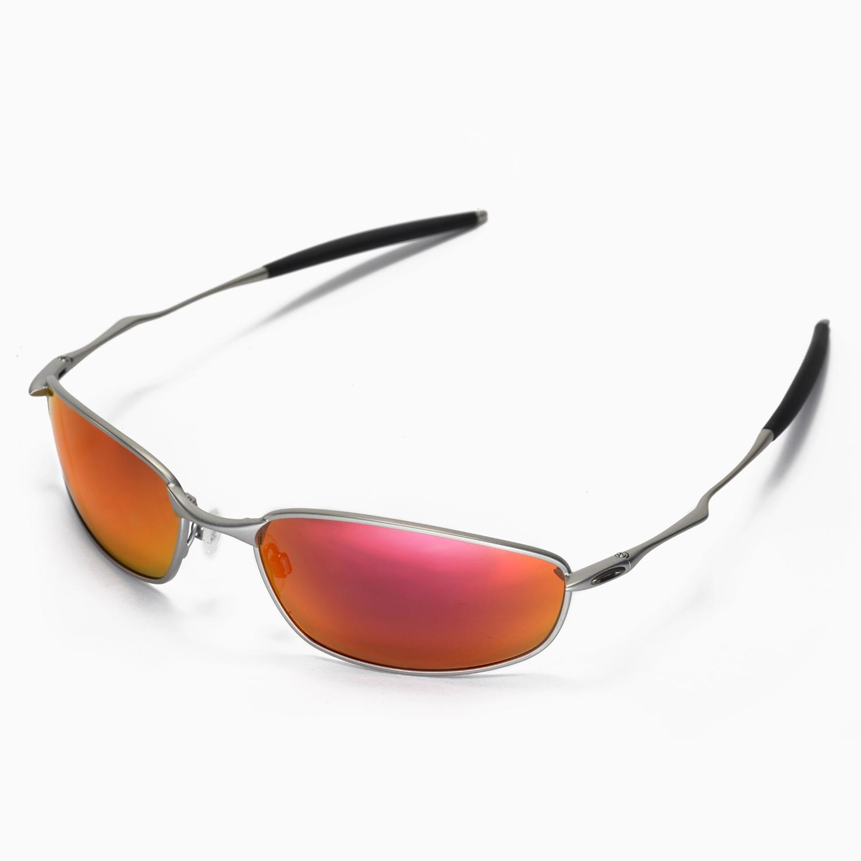 New Walleva Polarized Fire Red Lenses For Oakley Whisker