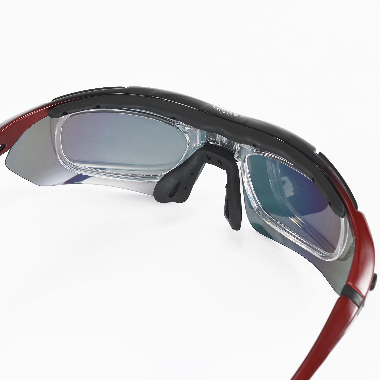 9e2be7db13f Walleva Red Polarized TR90 Sunglasses With Hat Clip+Prescription Lenses  Insert 616641631857