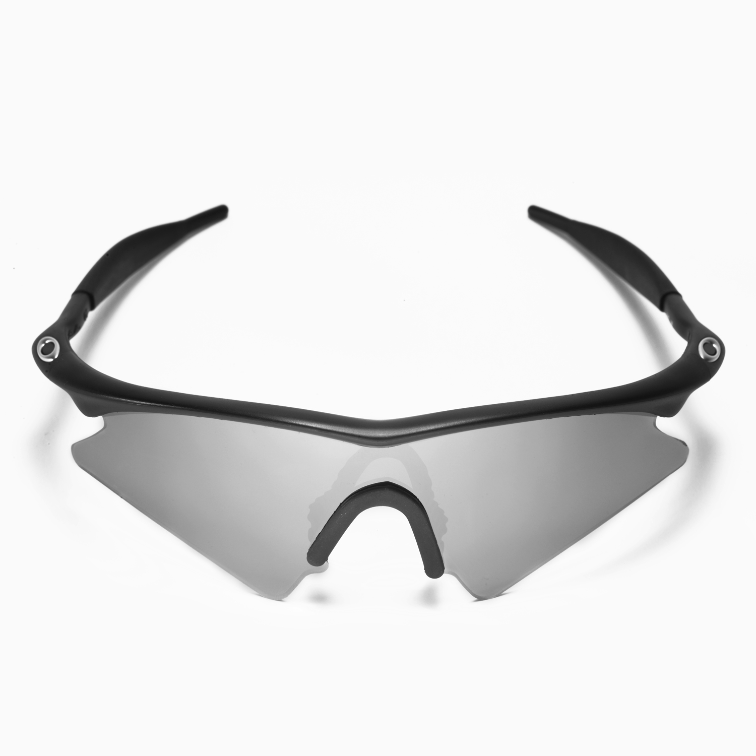 ba9f30836ff Details about Walleva Polarized Black + Titanium Lenses For Oakley M Frame  Sweep Sunglasses